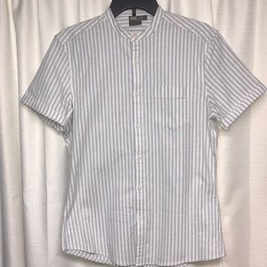 ASOS Stretch Slim Oxford Stripe Shirt